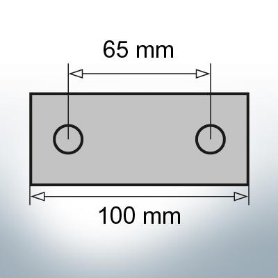 Block- and Ribbon-Anodes Block L100/65 (AlZn5In) | 9347AL