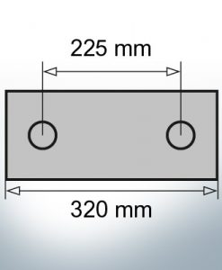 Block- and Ribbon-Anodes Block L320/200 (Zinc) | 9348