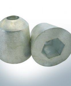 Anode de propulseur d'étrave 35 x 35 sur 26 Cône (Zink) | 9614
