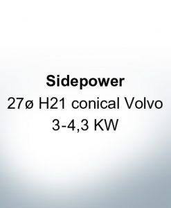 Sidepower 27ø H21 conical Volvo 3-4,3 KW (Zinc) | 9617