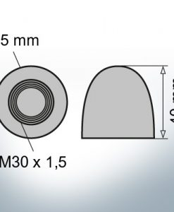 Nut-Caps M30x1,5 Ø45/H40 (AlZn5In) | 9403AL