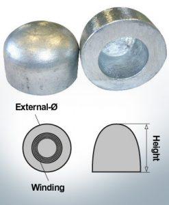 Écrous borgnes M52x1,5 Ø75/H50 (AlZn5In) | 9405AL