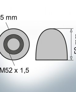 Nut-Caps M52x1,5 Ø75/H50 (AlZn5In) | 9405AL
