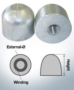 Écrous borgnes M16x1,5 Ø45/H40 (AlZn5In) | 9450AL