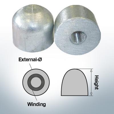 Écrous borgnes M16x1,5 Ø45/H40 (Zinc) | 9450