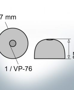 One-Hole-Caps | suitable for VP-76 Ø67/H27 (AlZn5In) | 9452AL