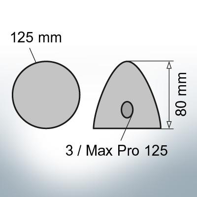 Three-Hole-Caps   Max Prop 125 Ø125/H80 (AlZn5In)   9604AL