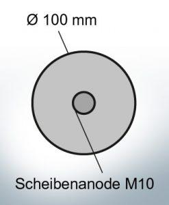 Disk-Anodes Ø 100mm | Bundle (AlZn5In) | 9800AL 9801AL