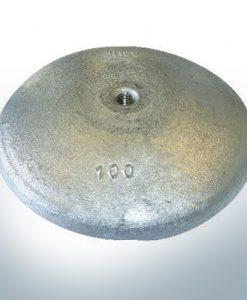 Anodes à disque Ø 100mm | M10 (AlZn5In) | 9800AL
