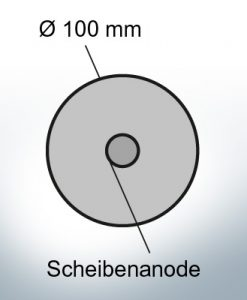 Disk-Anodes Ø 100mm | hole (Zinc) | 9801