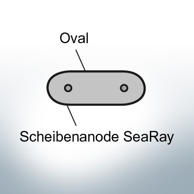 Disk-Anodes SeaRay oval (AlZn5In) | 9802AL