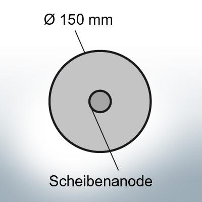 Disk-Anodes Ø150 mm (AlZn5In) | 9803AL