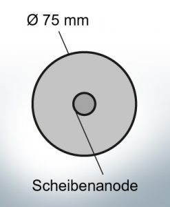 Disk-Anodes Ø 75mm | hole (AlZn5In) | 9806AL