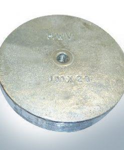 Anodes à clapets à M8 100x40 Ø100 mm (Zinc) | 9812