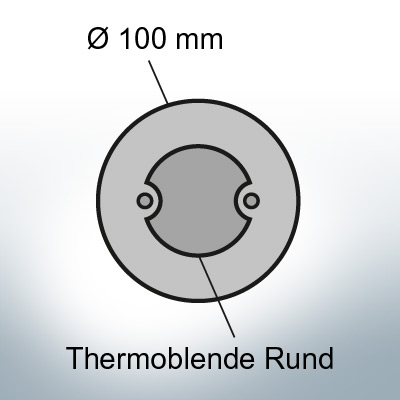Thermocover round Ø100 mm (AlZn5In) | 9817AL