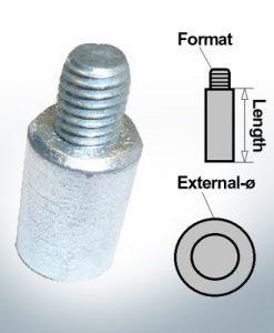 Anodes à ergot M8 Ø13/L20 (Zink) | 9104