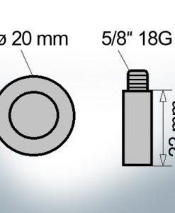Bolt-Anodes 5/8'' 18G Ø20/L22 (Zinc) | 9107