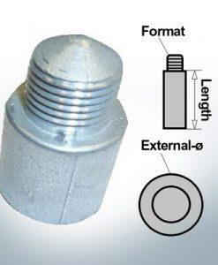 Anodes à ergot 1/4'' 20G Ø10/L58 (Zink) | 9109