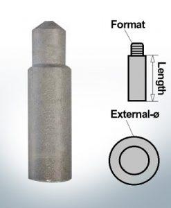 Presse 8 mm pour anodes à broches Ø10/L40 (AlZn5In)   9115AL