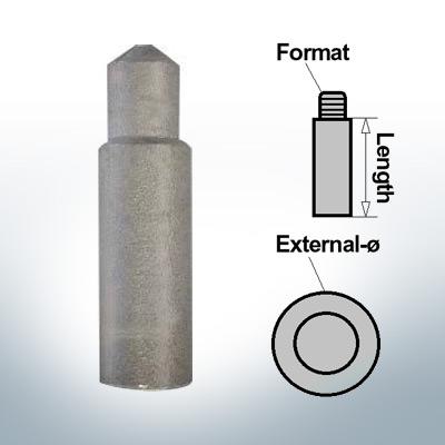 Presse 8 mm pour anodes à broches Ø10/L27 (Zinc) | 9116
