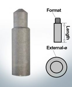 Anodes à ergot M10 Ø14/L60 (Zink) | 9123