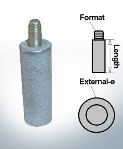 Anodes à ergot M8 Ø10/L20 (Zinc) | 9132