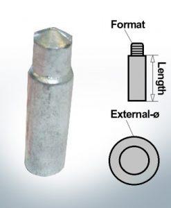 Anodes à ergot M12 Ø14/L40 (Zinc) | 9135