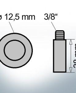 Bolt-Anodes 3/8'' Ø12,5/L38 (AlZn5In)   9140AL