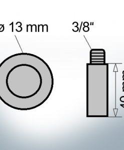 Bolt-Anodes 3/8'' Ø13/L40 (AlZn5In)   9145AL