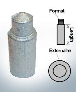 Presse 10 mm pour anodes à broches Ø14/L26 (AlZn5In)   9155AL