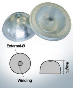 Écrous à un trou | convient pour VP-104 Ø88/H35 (AlZn5In) | 9453AL