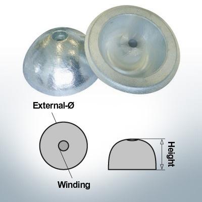 Écrous à un trou   convient pour VP-104 Ø88/H35 (AlZn5In)   9453AL