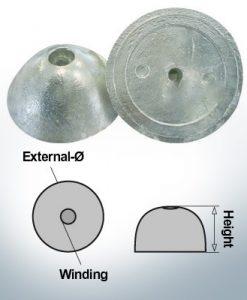 Écrous à un trou | convient pour VP-76 Ø67/H27 (Zinc) | 9452