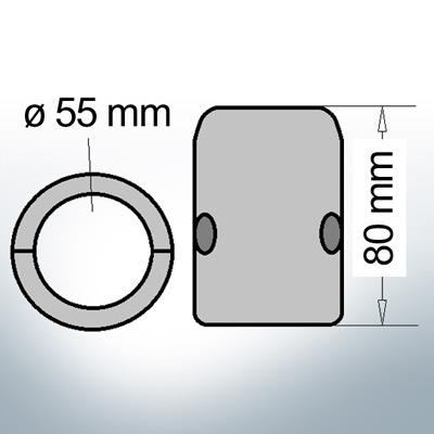 Shaft-Anode with metric inner diameter 55 mm (Zinc) | 9008