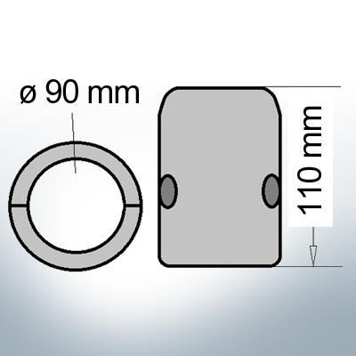 Shaft-Anode with metric inner diameter 90 mm (Zinc) | 9014