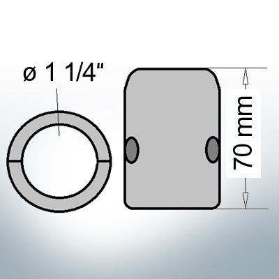 Shaft-Anodes with imperial inner diameter 1 1/4'' (Zinc)   9017