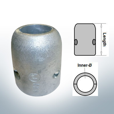 Shaft-Anodes with imperial inner diameter 1 1/4'' (AlZn5In) | 9017AL