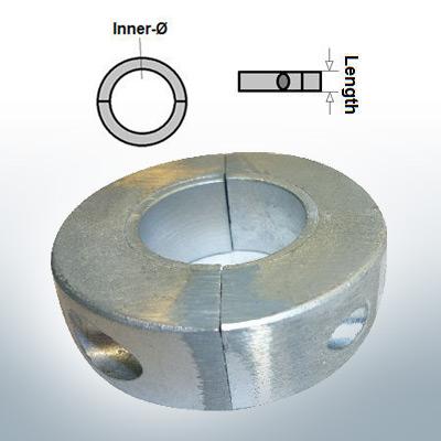 Anodes d'arbre Anneaux avec diamètre intérieur métrique 35 mm (Zink)   9034