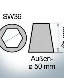Shaftend-Anodes with hexagon socket SW36 (AlZn5In) | 9420AL