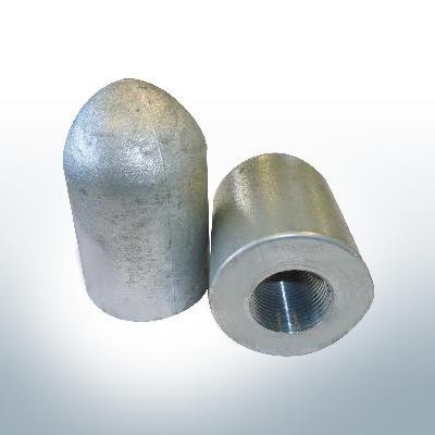 Tube conique pour anode d'extréavecé d'arbre 1'' (AlZn5In) | 9449AL